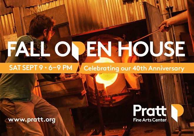 Pratt Fine Arts Center presents its 40th Anniversary Fall Open House and Art Sale